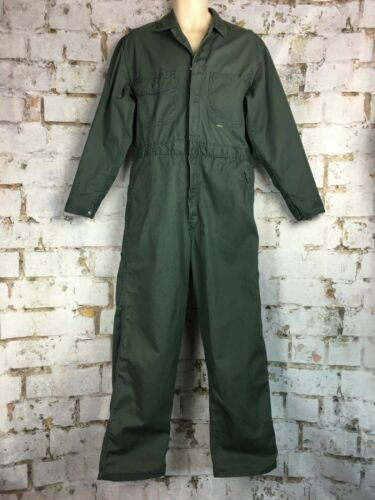 1960s Sears Mechanic Coverall Green Twill Long Sle