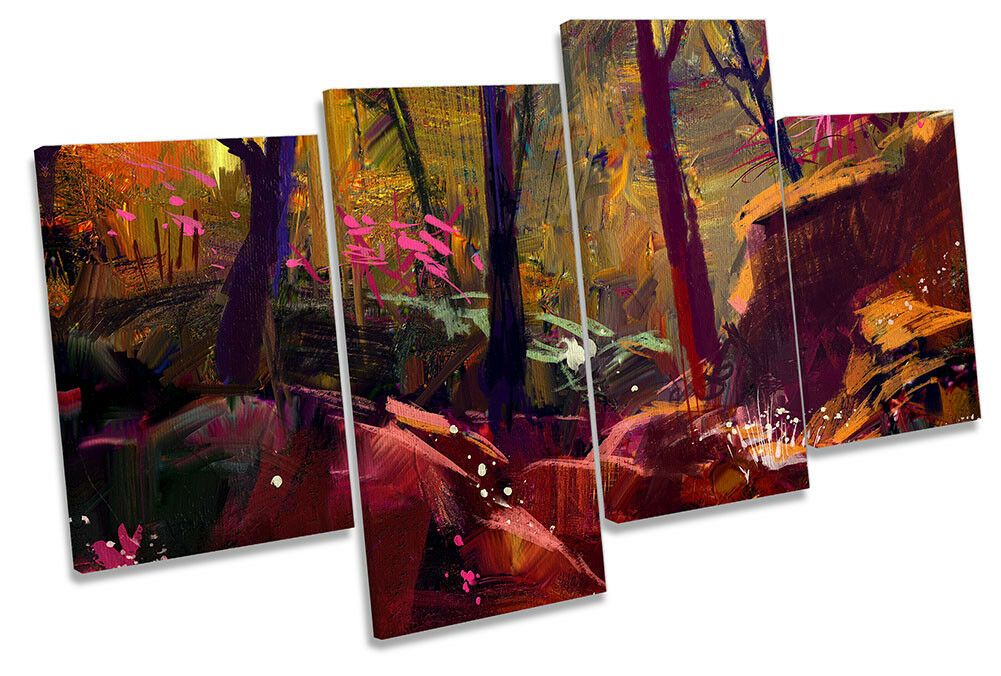 Bosque De Otoño Sunset Repro Lienzo Lienzo Lienzo Enmarcado Arte de la pa rojo  de impresión de múltiples 7176a0