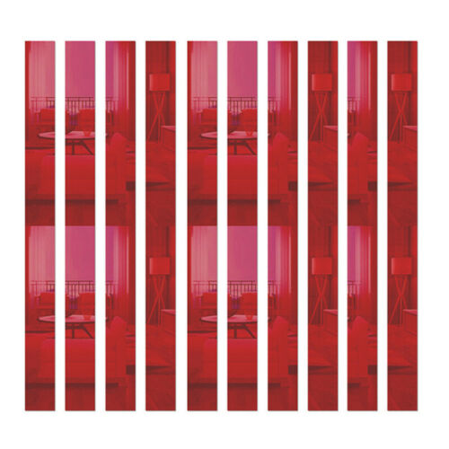 10Pcs Long Rectangle Bar Mirror Wall Sticker DIY Removable Art Decals Decoration