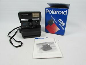 Vintage Polaroid 636 Close Up Camera Retro 1980's with Original Box - Working