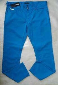Just-CAVALLI-MEN-039-S-LIGHT-Pantaloni-Chino-Jeans-a-vita-bassa-gamba-stretta-Slim-Skinny