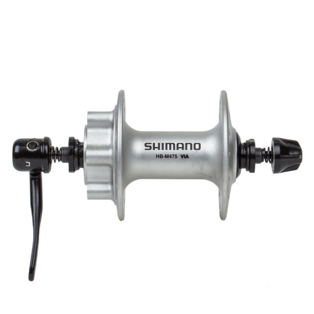 Shimano Deore XT HB-M756 Silver Quick Release 6 Bolt Disc Brake 36 Hole Hub