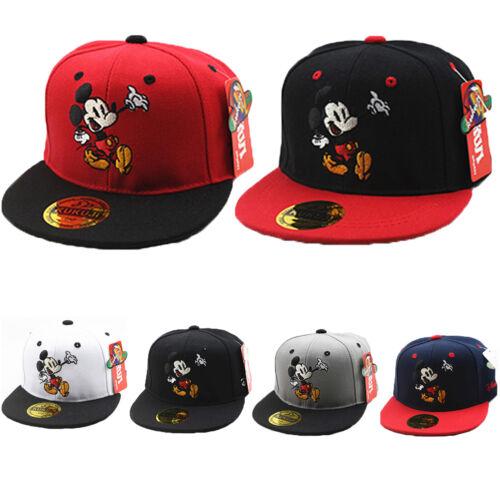 Kids Boy Girl Mickey Mouse Baseball Cap Hip Pop Adjustable Casual Snapback Hat