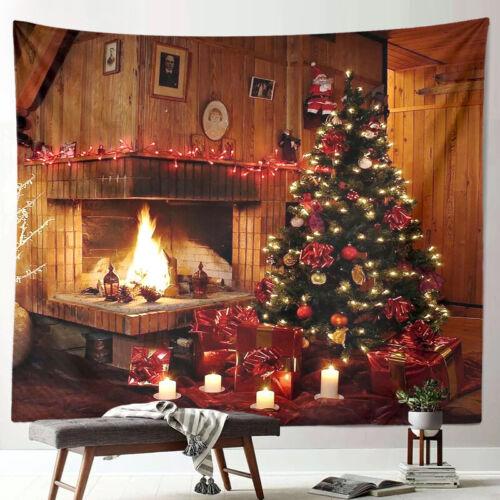 Christmas Wall Tapestry Xmas Santa Claus Tapestries Wall Hanging Home Decor