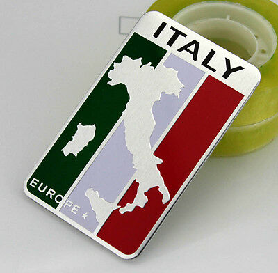 Auto Car Racing Sports Emblem Badge Decal Sticker For IT Italy Italian Flag NEW