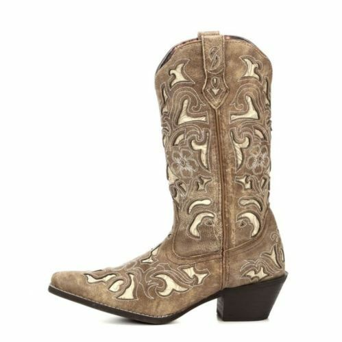 Laredo Ladies Sharona Crackle Sanded Goat Boot 52041 New New New e6666a