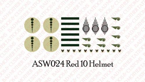 Star Wars helmet decals-Rouge 10-Toboggan aquatique decals Échelle 1//18 tatouages