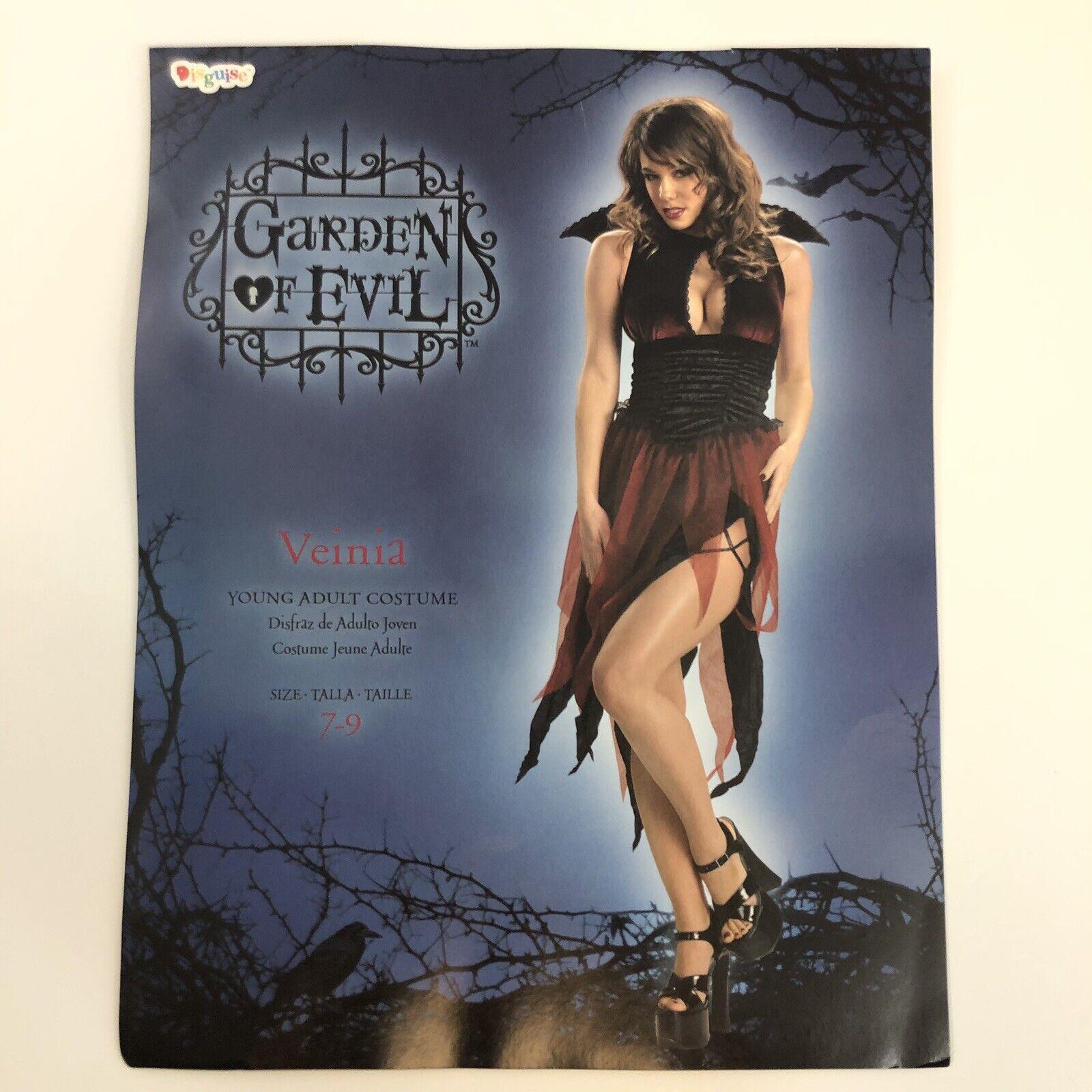 Women's Veinia Witch Vampiress Sorceress Sexy Gothic Halloween Costume Sz 7-9