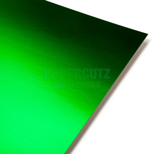 5 Sheets  DEAL OFFER SALE GREEN MIRROR A4 CRAFTING CARD 250 GSM