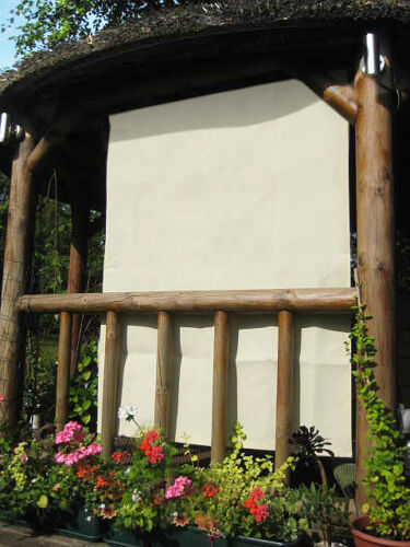 1.6m Rectangle Ivory Side Sun Shade Canopy for a Wooden Outdoor Garden Structure