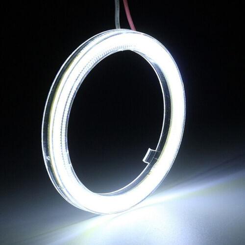White COB SMD Angel Eyes Car LED Fog Light Ring DRL Headlight Lamp DecorationRDR