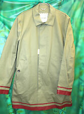 Ben Sherman double texture rubber mackintosh red SBR taped seams XXL raincoat