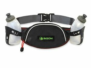 Hydration-Belt-for-Running-Jogging-Walking-7-034-x-4-034-Pouch-with-Two-Water-Bottles