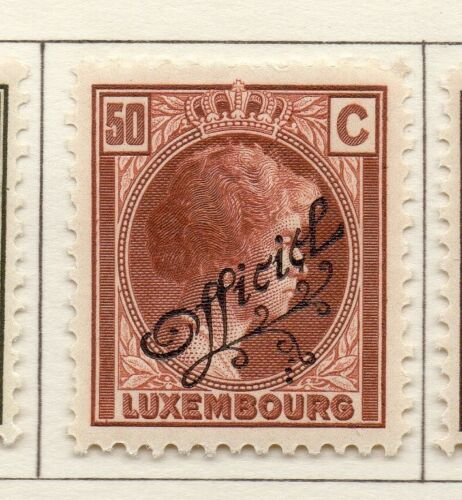 Luxembourg 1926-27 Early Issue Fine Mint Hinged 50c. Official Optd 239994