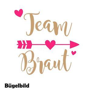 Das Bild wird geladen Buegelbild-JGA-Jungesellenabschied-f-T-Shirt-XXL-Team- Braut- 294c5fa7ce