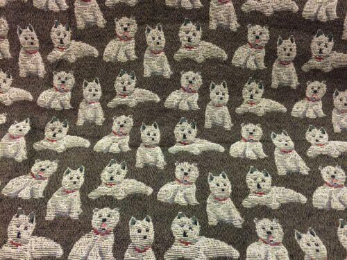 Scottie Dog Tapestry Curtain Fabric