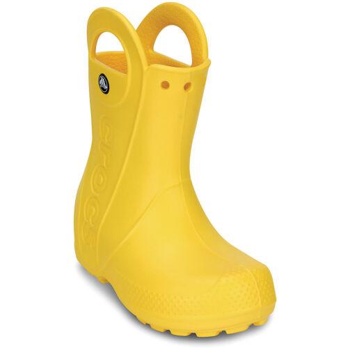 Yellow Crocs Handle It Rain Boot Kids