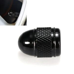 4x Black Aluminum Bullet Car Truck Air Port Cover Tire Rim Valve Wheel Stem Caps
