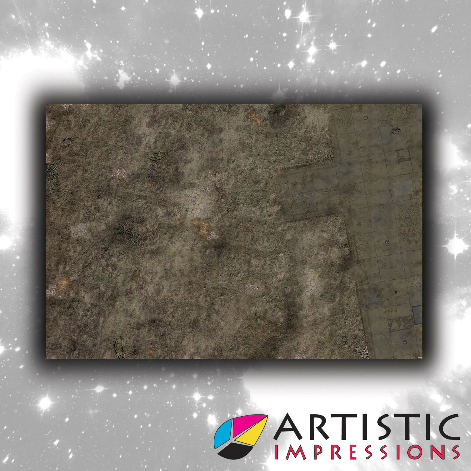 Vinyl 6x4' Outpost Gaming Mat - Ideal for Warhammer