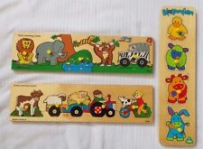 Early Learning Centre Blossom Farm Wooden Jigsaw Puzzles  Easy Grip Inset Pieces