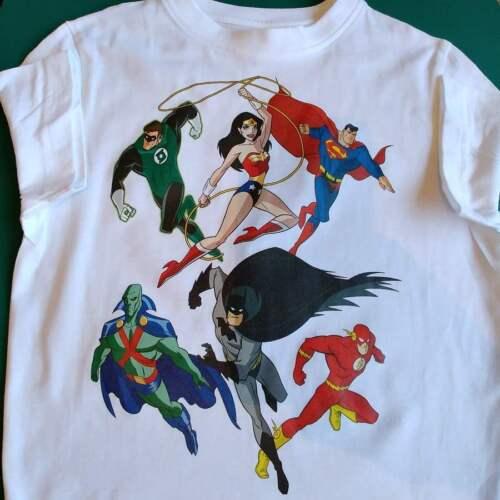 Superhero Comics T-shirt Boys Kids Tops /& Shirt