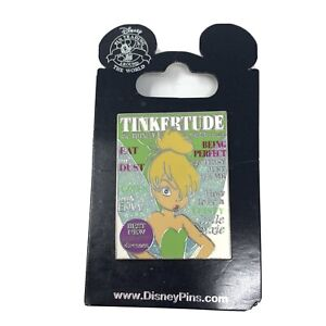 Tinkertude-Magazine-Cover-Tinker-Bell-Disney-Pin-100132-New-on-card-See-Photos