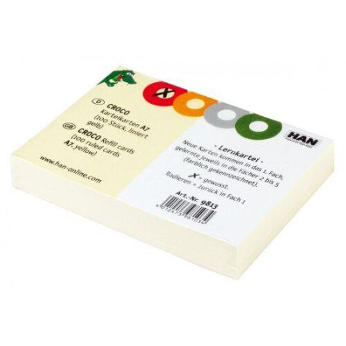 HAN Lernkartei CROCO A8 Karteibox Karteikasten 998 alle Farben Register A-Z Neu
