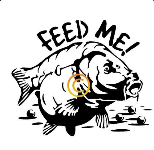 Carp Feed Me Stencil A4