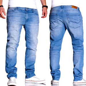 Jack-amp-Jones-jeans-Clark-regular-straight-fit-pantalones-azul-claro-azul-Nuevo