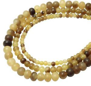 Graues-Horn-Perlen-Kugeln-4-6-amp-8-mm-NATUR-Hornperlen-f-Mala-Kette-usw
