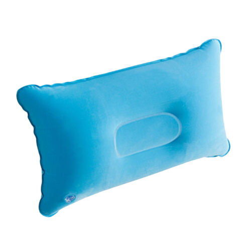 Camping Pillow Inflatable Backpacking Hiking Ultralight Pillow Light Blue