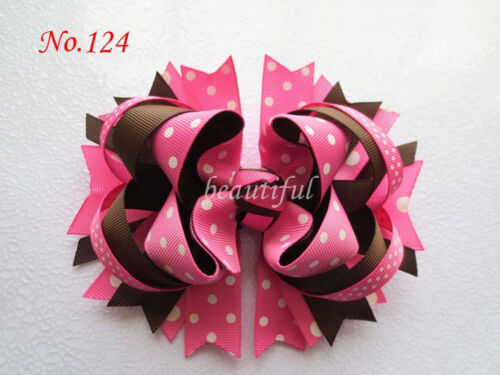 50 BLESSING Good Girl Custom Boutique 5.5 Inch Blooming Hair Bow Clip 158 No.