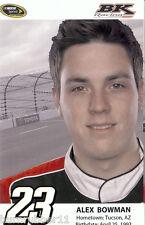 "2014 ALEX BOWMAN ""BK RACING"" #23 NASCAR SPRINT CUP SERIES POSTCARD"