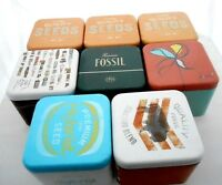 Fossil Watch Empty Box With 11 Year Warranty Paper Manual Tin Box