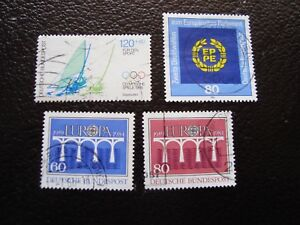 Germany-Rfa-Stamp-Yvert-and-Tellier-N-1040-A-1043-Obl-A3-A