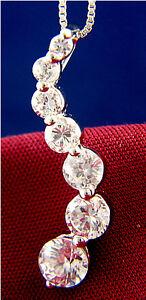 Womens-3-44-CT-Simulated-Diamond-925-Sterling-Silver-Journey-Fashion-Pendant