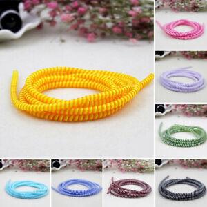 Sn-Spirale-USB-Charge-Cordon-Ecouteur-Cable-Protecteur-Saver-Housse-Enrouleu
