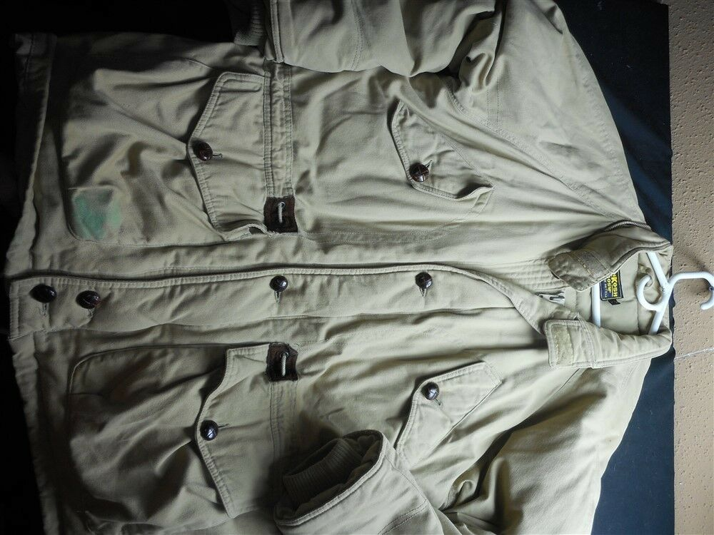 Osh Kosh Large Tan Down Feather Filled Zipper Front Hip Length Men's Coat
