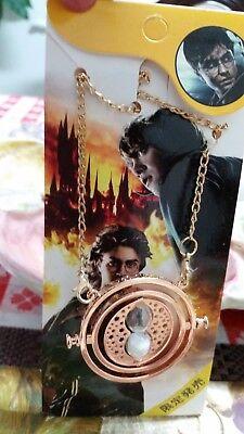 NEW Harry Potter Time Turner Hermione Granger Rotating Necklace F//S US Seller