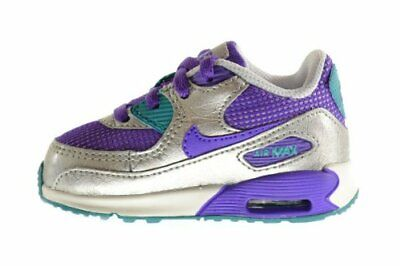 Nike Air Max 90 2007 (TD) Toddler Shoes 408112 501 PurpleSilver sz 4C 7C | eBay