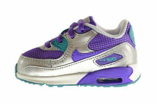 Nike Air Max 90 2007 (TD) Toddler Shoes 408112 501 PurpleSilver sz 4C 7C