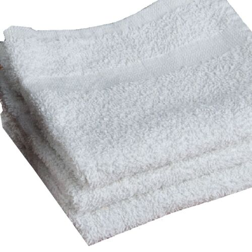 12 new bright white 44oz bar mops large 16x27 100/% cotton towels heavy duty