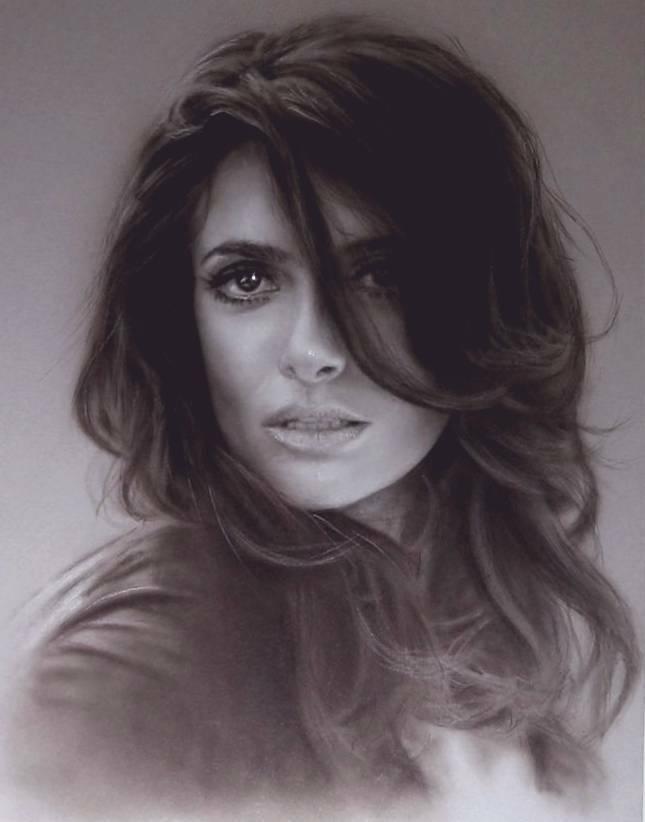 "Salma Hayek Limited Edition Fine Art Print 8.5x11"" Framed on eBay thumbnail"
