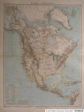 Debes - Landkarte von Nord - Amerika 1894, Lithographie, Paul Elfert