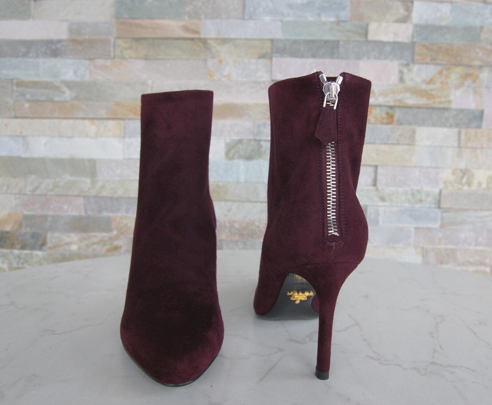 PRADA Gr 36 Stiefeletten Stiefeletten Stiefeletten Stiefel Schuhe Granato rot 1T079G neu ehem. f6a3ad