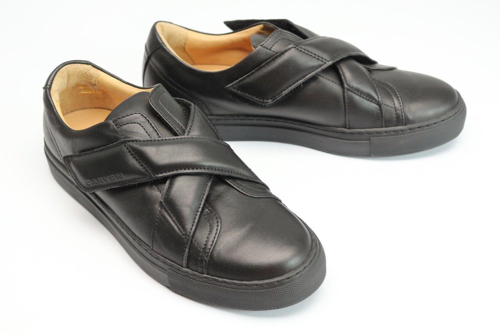 Carven Damen Schuhe 39 40 Mismatch Größe Schwarzes Leder Kreuz-Riemen Turnschuhe