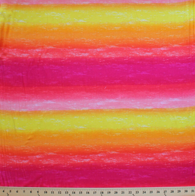 Tie Dyed Look Watercolor Cotton Lycra Spandex Knit Fabric by the Yard D450.02