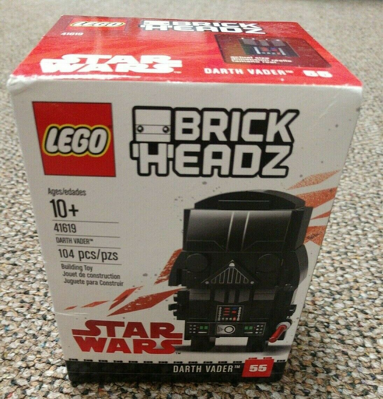 Lego Star Wars Brick Headz 41619 Darth Vader Factory Sealed NEW! Retired
