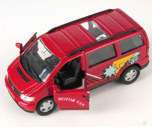 red Welly Modell Auto 1:34 NEU /& OVP BLITZ VERSAND Mercedes V-Class rot