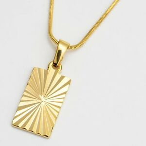 Men-039-s-Women-039-s-Pendant-Necklace-18k-Yellow-Gold-Filled-18-034-Link-Fashion-Jewelry
